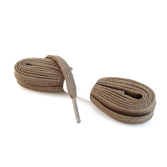 Platte veters voor wandelschoenen kaki