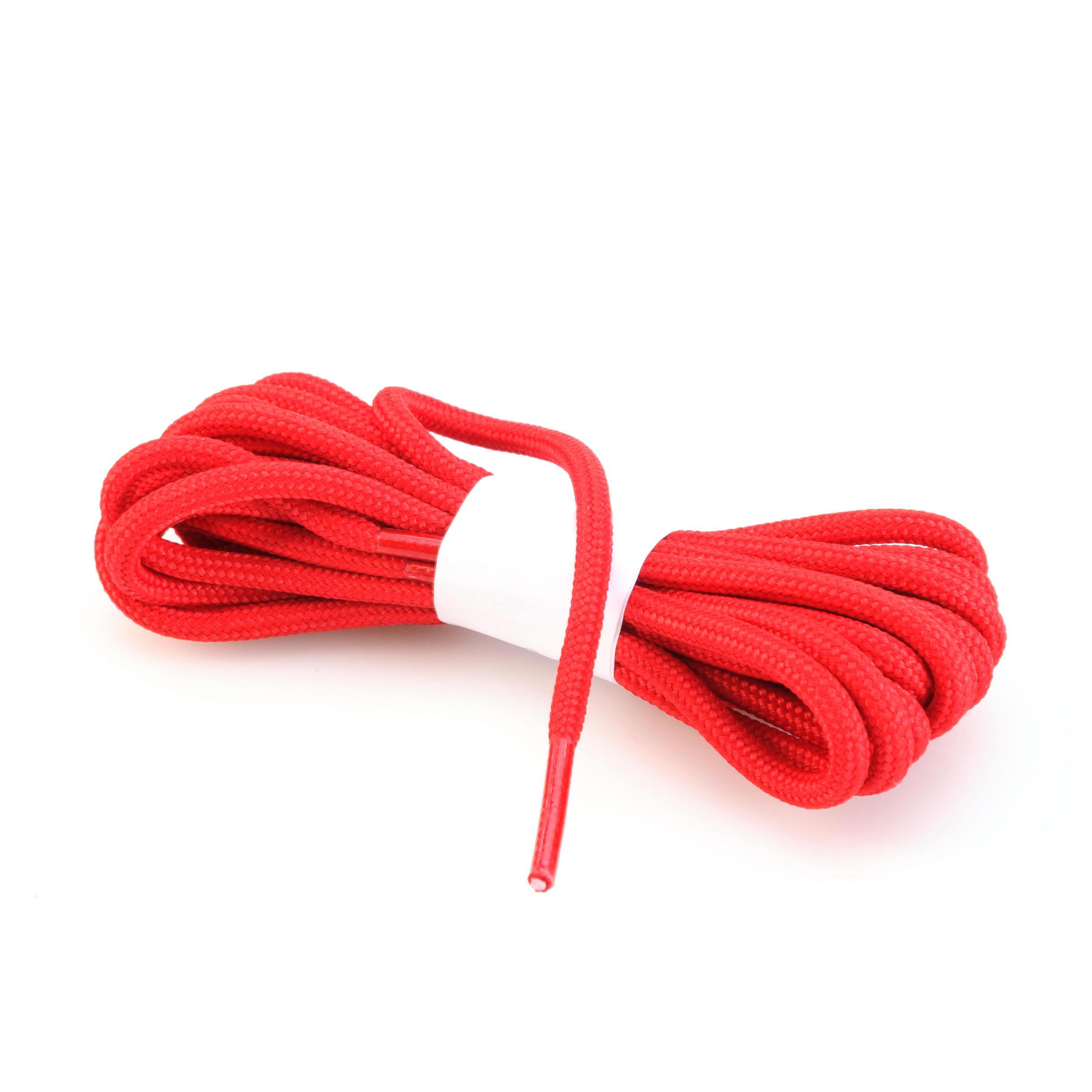 Lacet rond de chaussure de randonnée rouge
