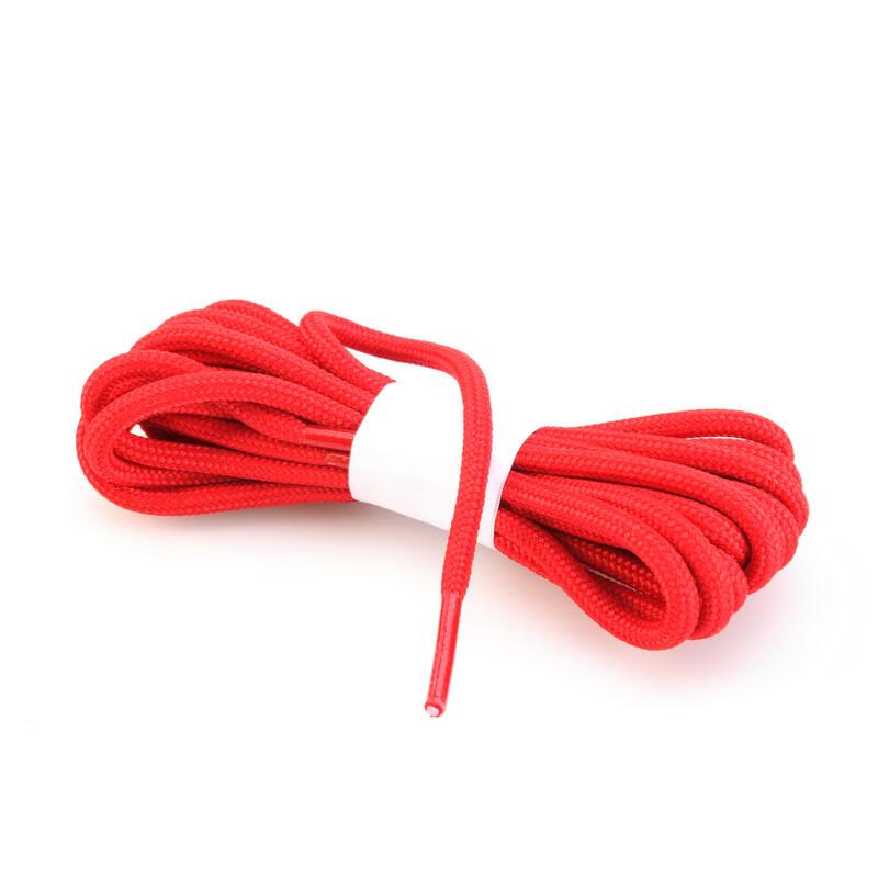 Lacets ronds pour chaussures de randonnée rouge