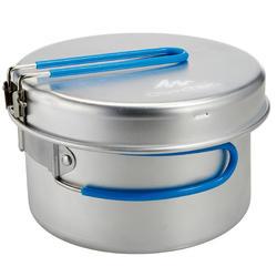 Kookset voor 2 personen aluminium (1,5 liter) - 273519