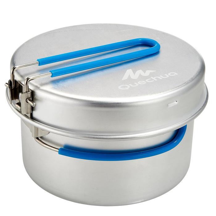 Kookset voor camping aluminium 1 persoon (1 liter).