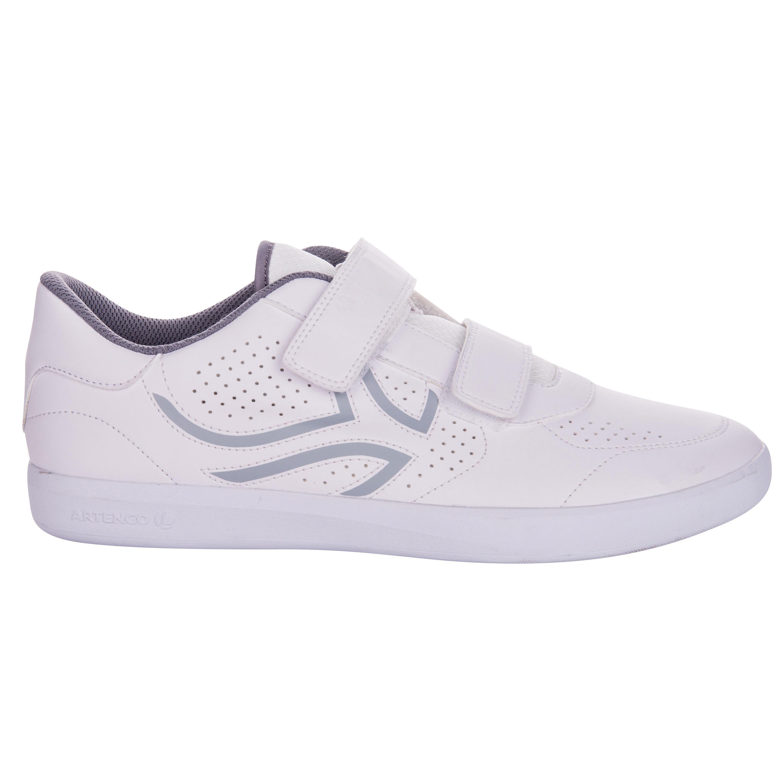 Heren tennisschoenen met klittenband TS700 wit