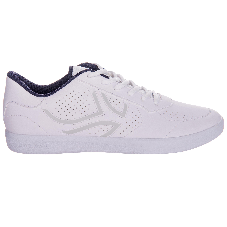 Heren tennisschoenen met veters TS700 wit