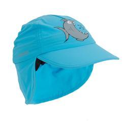 Gorra UV Bebé tiburón azul