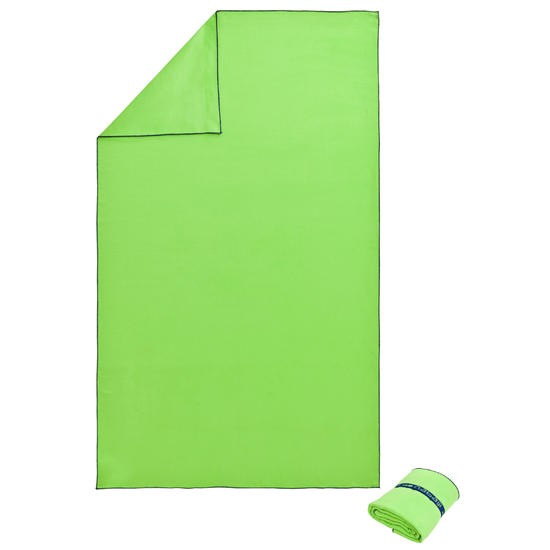 Zeer compacte microvezel handdoek cinablauw maat L 80 x 130 cm - 275685