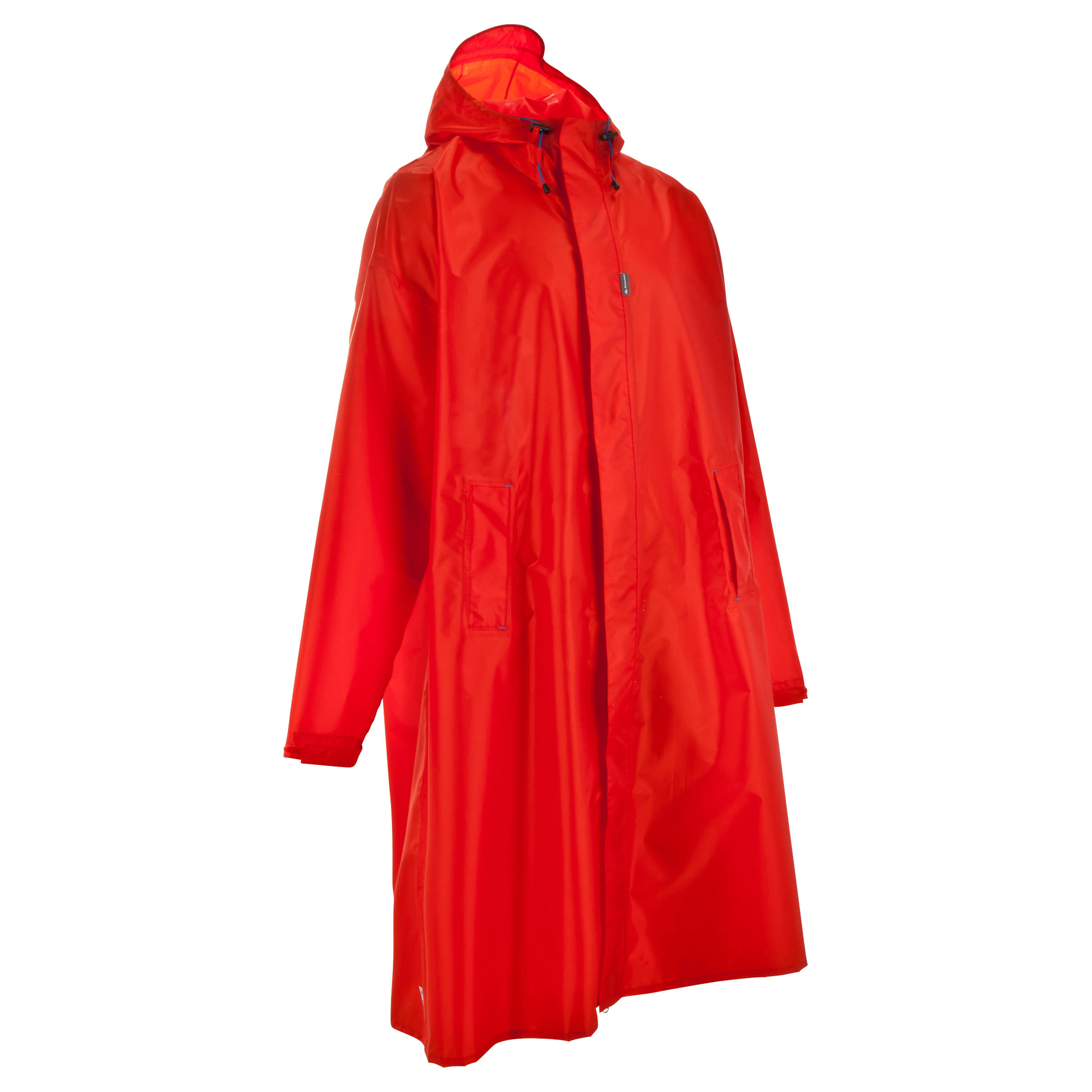 Red FORCLAZ 75 litre S/M mountain trekking rain cape