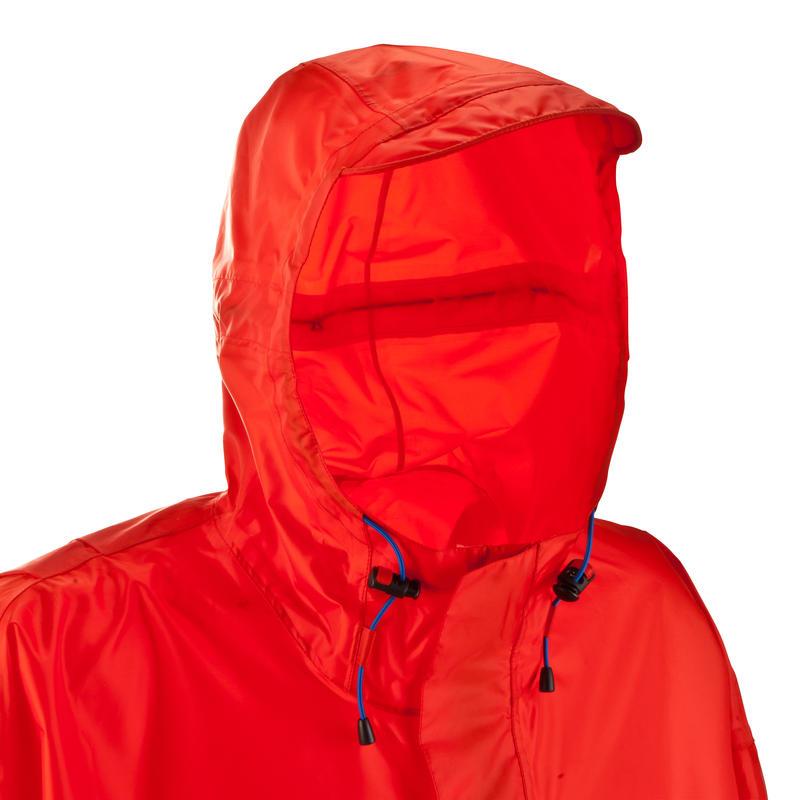 เสื้อกันฝนสำหรับผู้ใหญ่ Forclaz 75L L/XL (สีแดง)