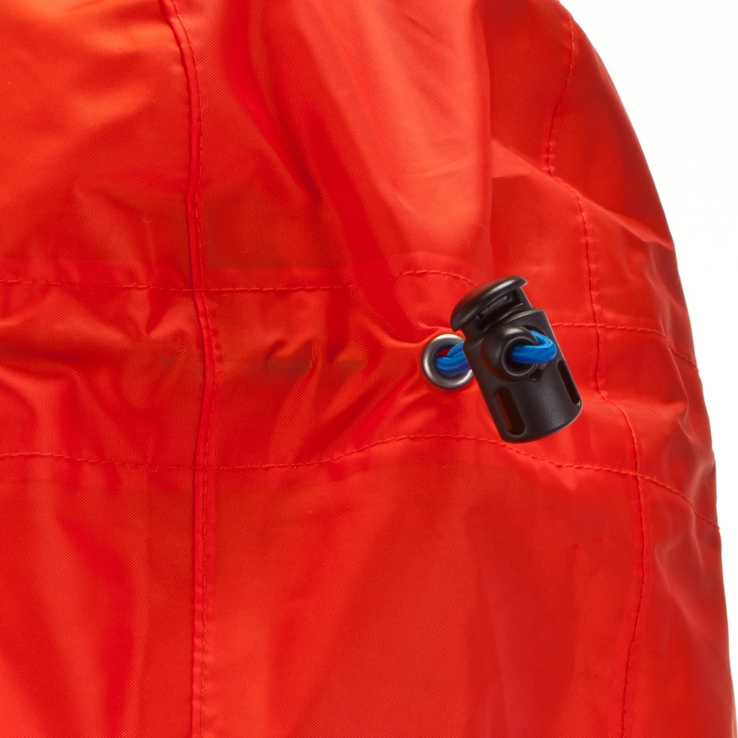 Cape de pluie randonnée pédestre montagne FORCLAZ 75 litres P / M rouge