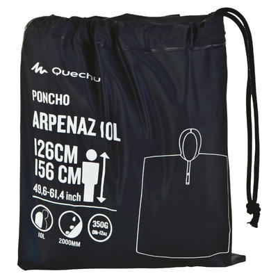 Capa impermeable Junior Arpenaz 10L Azul
