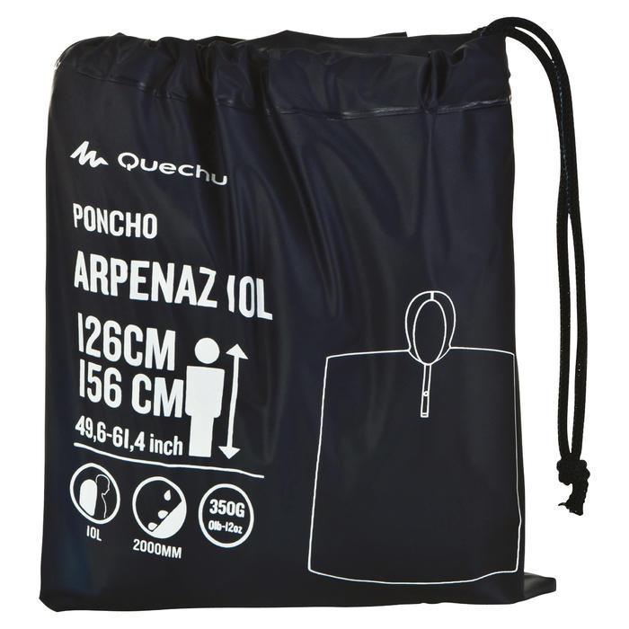 Poncho randonnée et trekking montagne ARPENAZ 10 litres enfant bleu