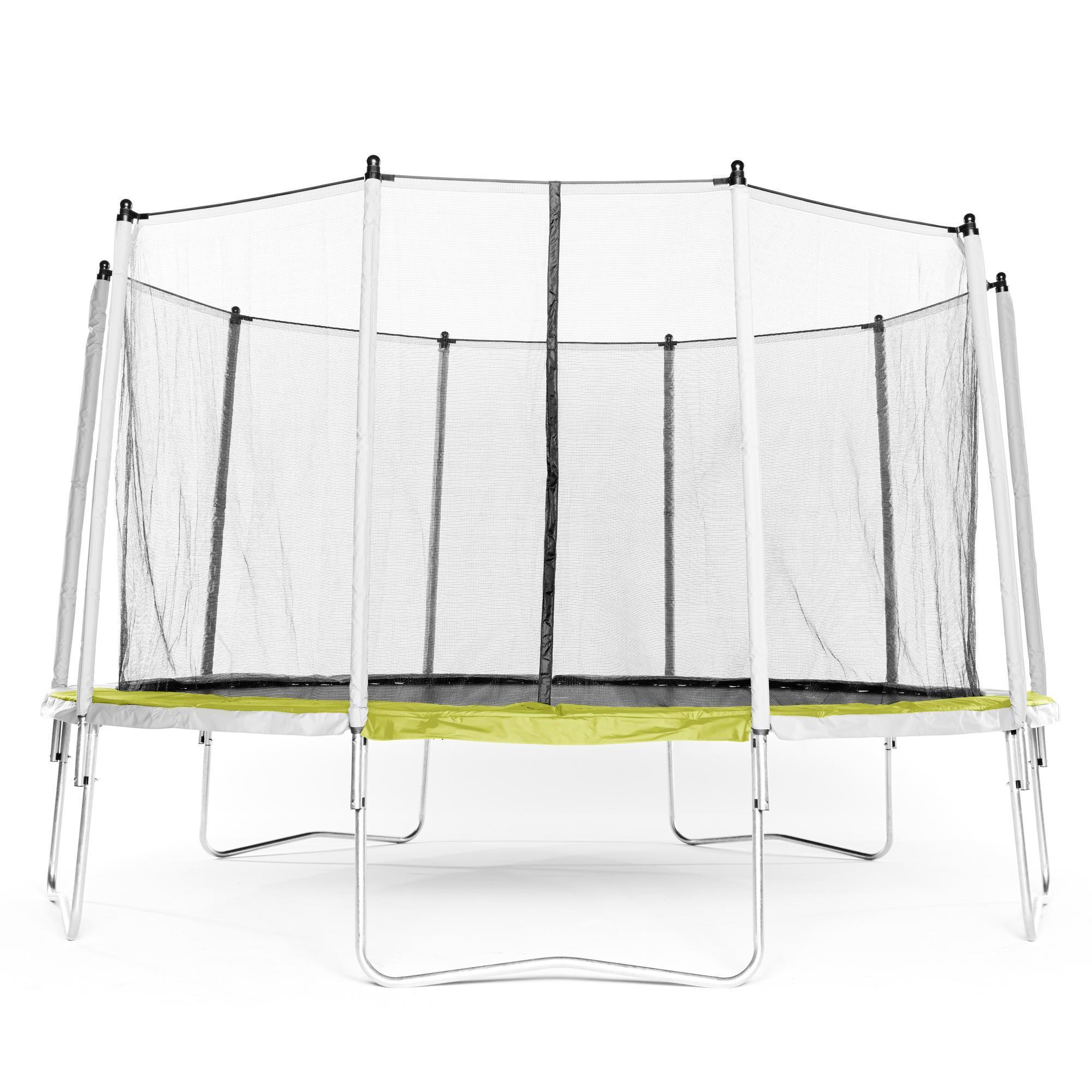 trampoline essential 420 vert filet de protection domyos by decathlon. Black Bedroom Furniture Sets. Home Design Ideas
