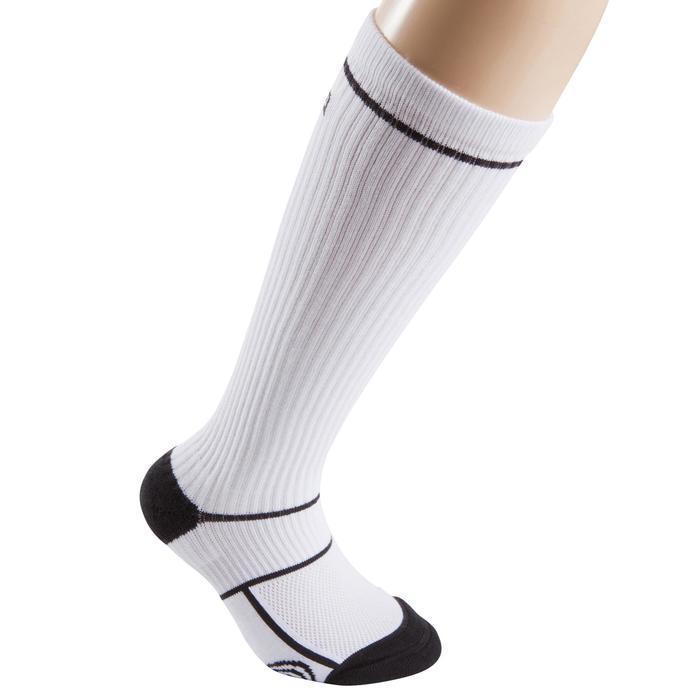 Chaussettes basketball enfant hautes blanc - 276450