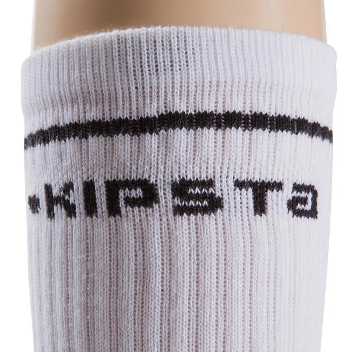 Chaussettes basketball enfant hautes blanc - 276456