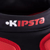 Full H 700 Adult Rugby Shoulder Pads - Black/Red