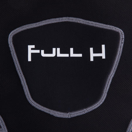 Full H 500 Bantalan Bahu Rugbi Dewasa - Hitam Abu-abu