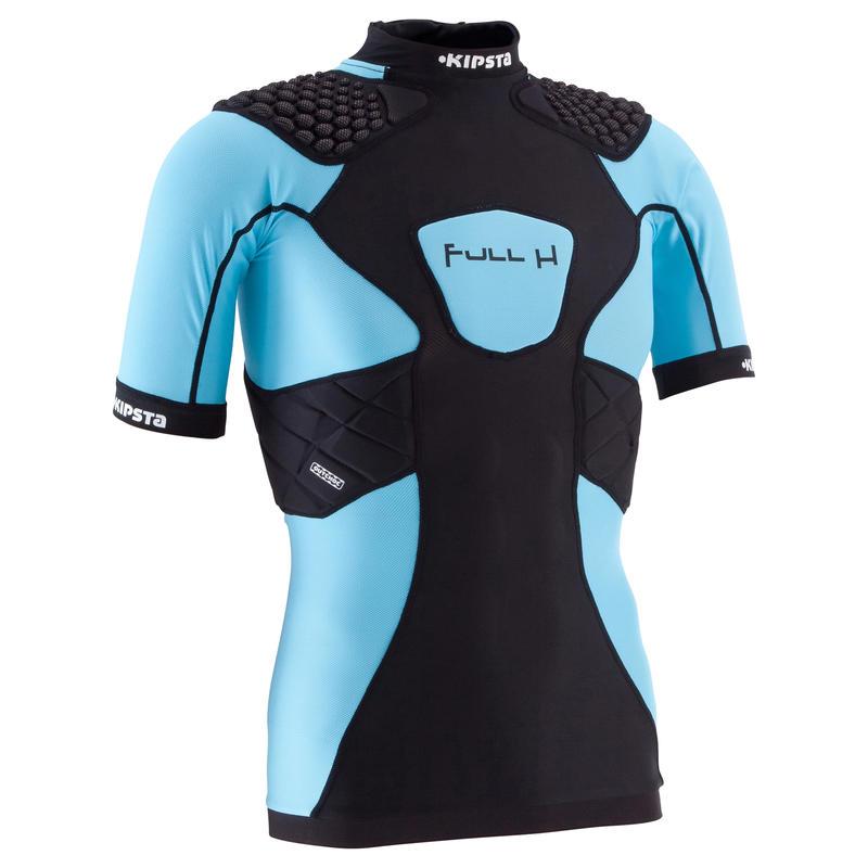 Full H 500 Junior Rugby Shoulder Pads - Black Blue