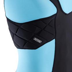 Shoulder pads Full H 500 kinderen zwart/blauw - 277779