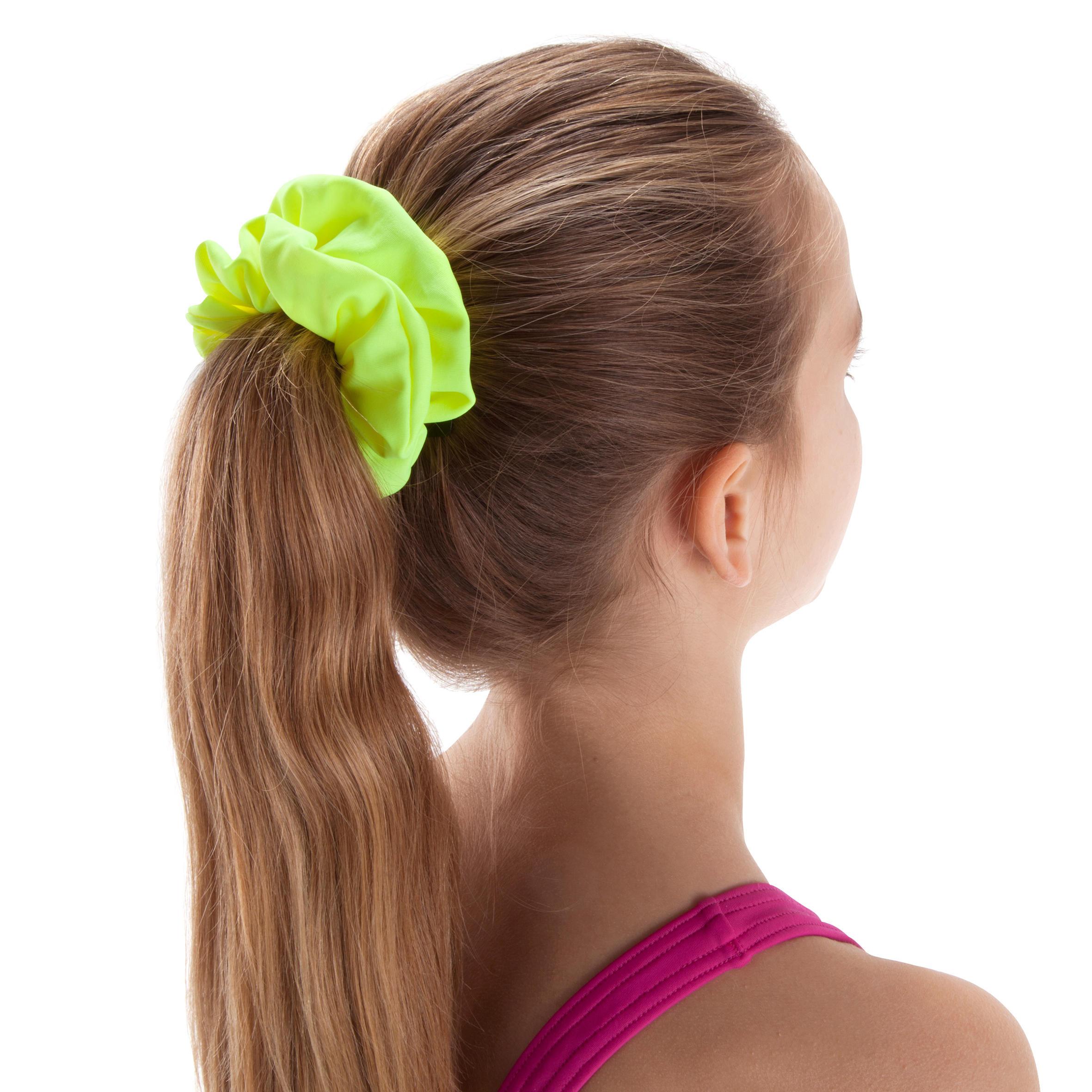 Girls' Swimming Hair Scrunchie - Yellow