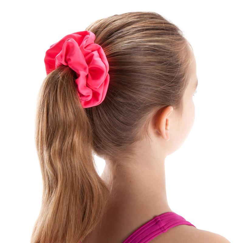 Girls' Swimming Hair Scrunchie Pink
