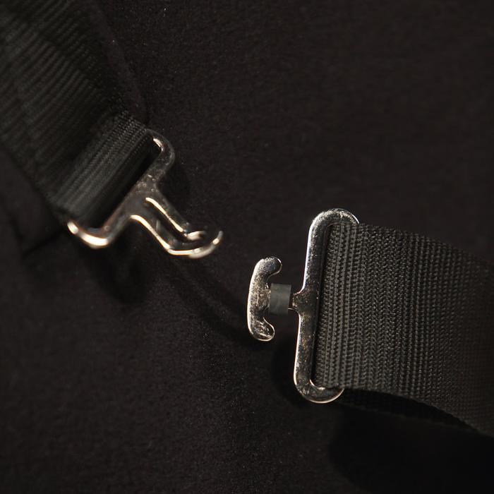 Chemise d'écurie équitation cheval et poney POLAR 200 noir - 278162