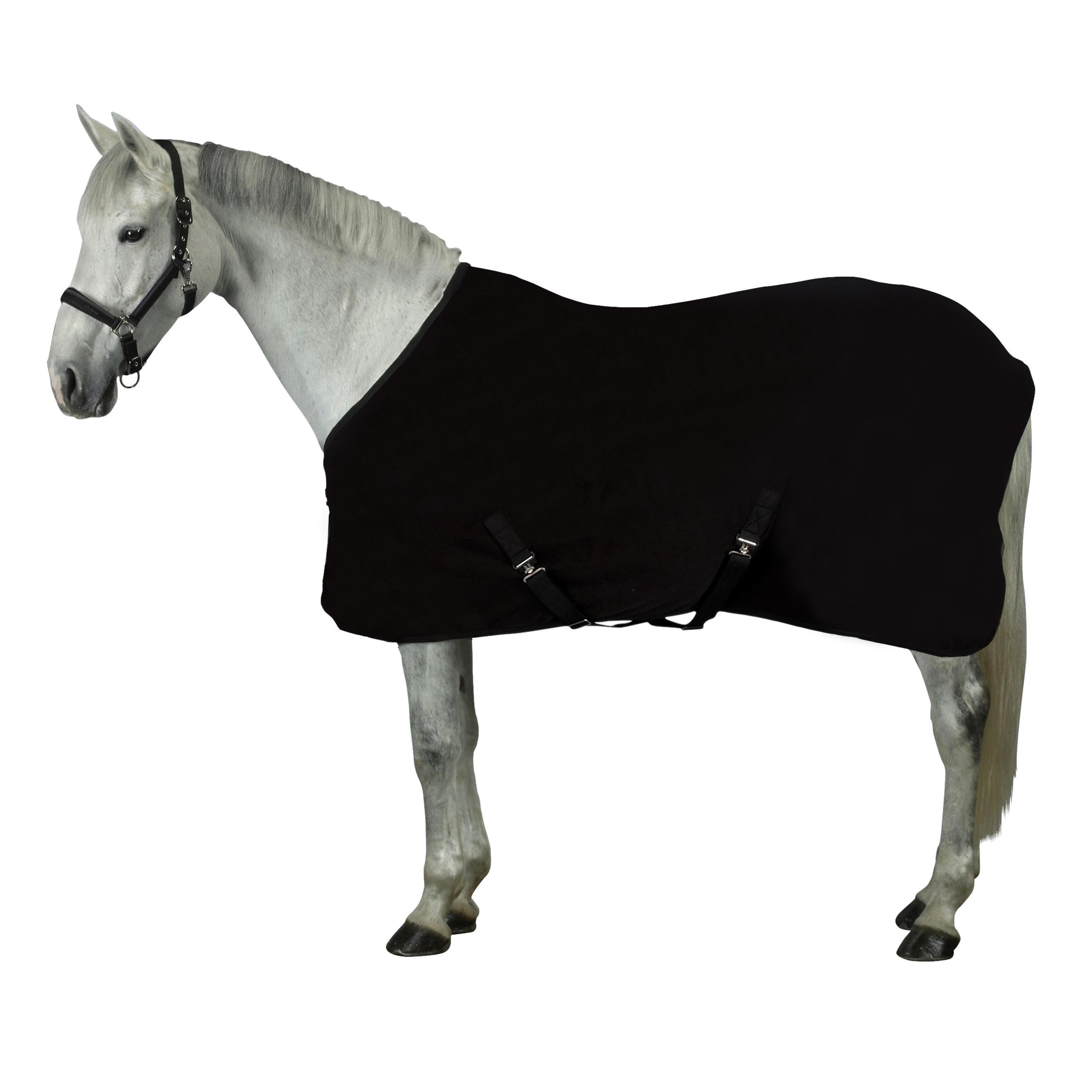 Fouganza Zweetdeken Polar 200 voor pony en paard zwart
