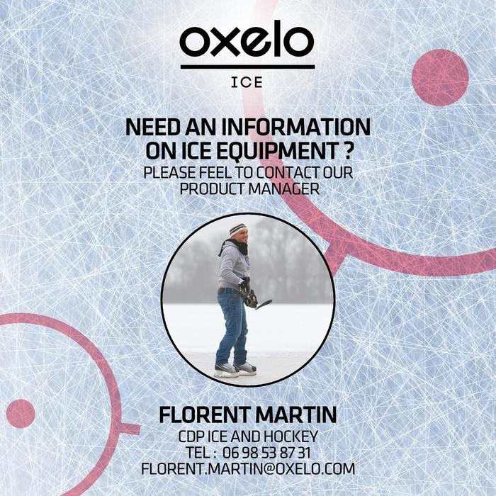 Patin de hockey sur glace junior ZERO noir - 279344