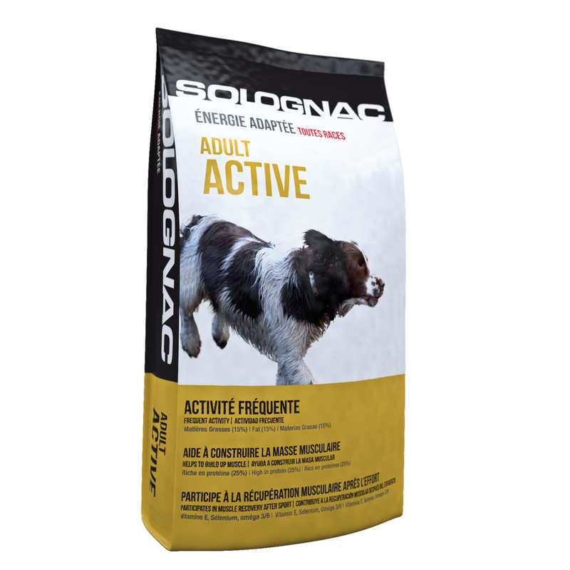 DOG NUTRITION Shooting and Hunting - ACTIVE ADULT DOG FOOD  SOLOGNAC - Working Dogs