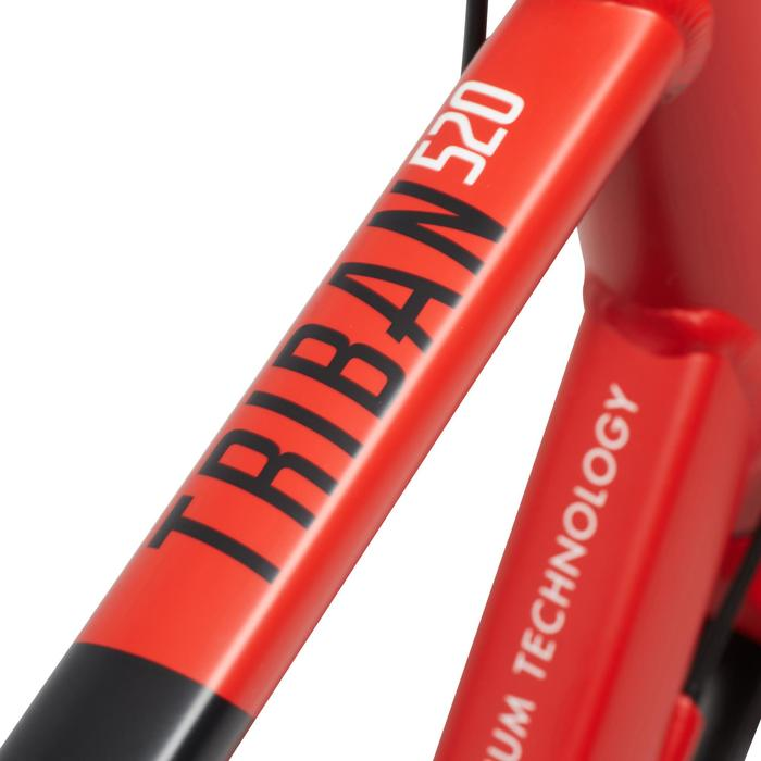 Fitnessrennrad Triban 520 FB schwarz/rot/weiß