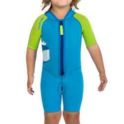 Kindershorty 100 voor snorkelen blauw/groen - 281837