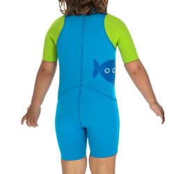 Kindershorty 100 voor snorkelen blauw/groen - 281838