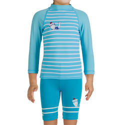 Uv-werende set van pet, kuitbroek en shirt voor peuters Surf - 281886