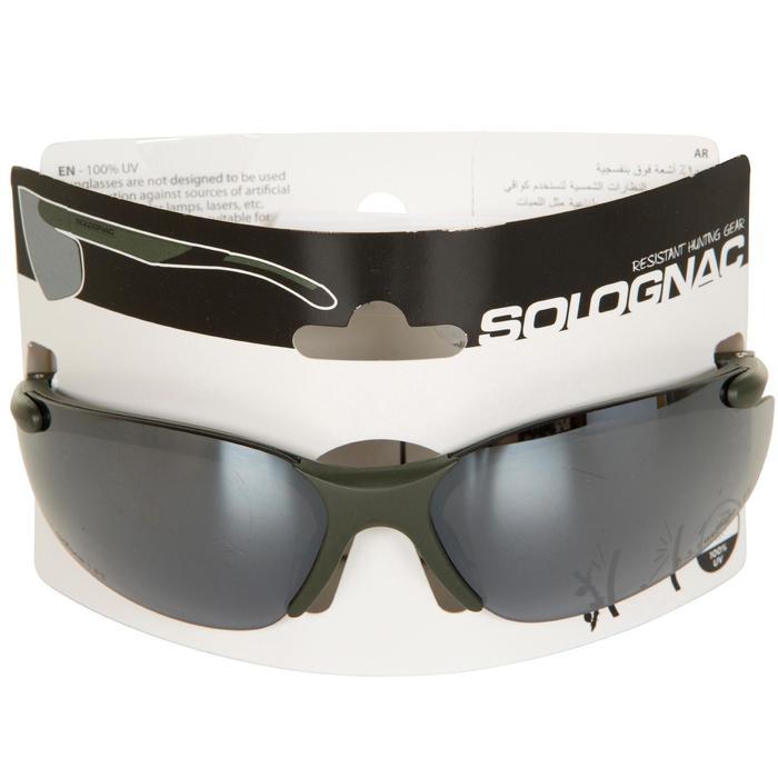 Schietbril met zonbescherming voor de jacht groen
