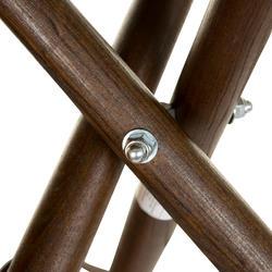 Hunting Leather Wood Tripod Stool 500