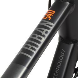 Racefiets Triban 540 FB zwart/grijs/oranje - 28242