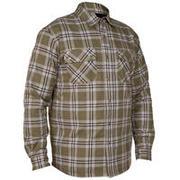 Men's Full Sleeve Fleece Lined Shirt 300 - Canadian Green