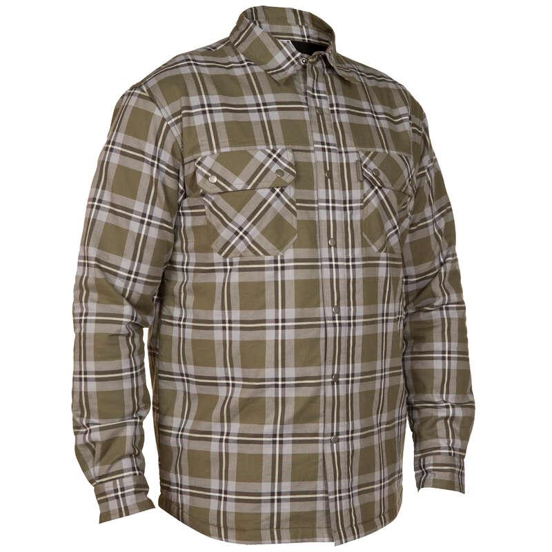 POLAR MONTLAR VE YELEKLER Avcılık - Taiga 300 İçi Polarlı Gömlek Yeşil/Bej SOLOGNAC - Av Kıyafetleri