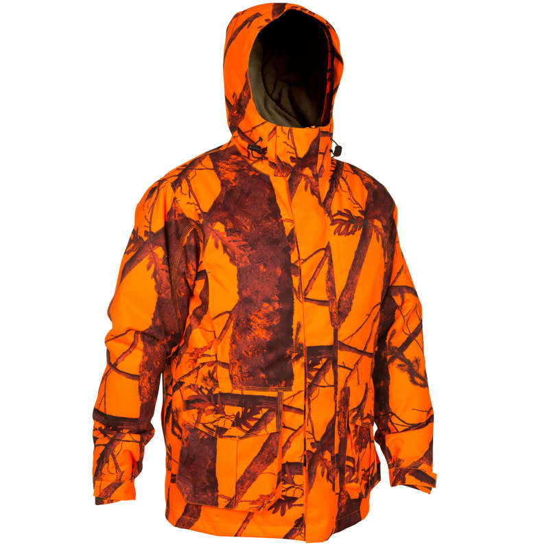 HIGH VIS DRIVEN/POST CLOTHING - 300 HUNTING PARKA KAMO HIGH VISIBILITY SOLOGNAC