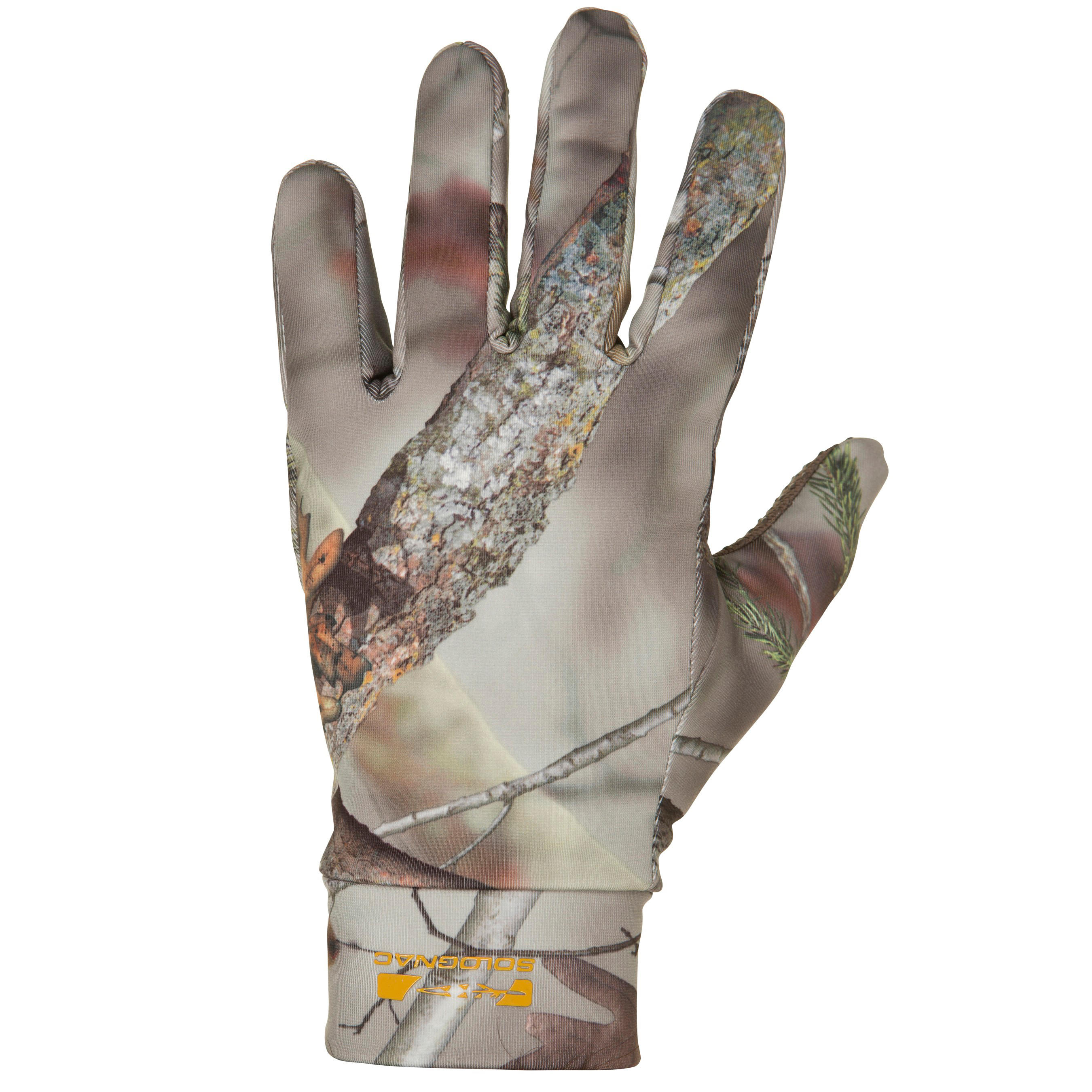 Solognac Handschoenen Actikam 300 voor de jacht camouflage bruin