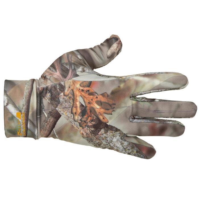 Gants chasse Actikam 300 camouflage marron - 282622