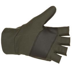 Handschoenen zonder vingers Taiga 500 softshell groen - 282636