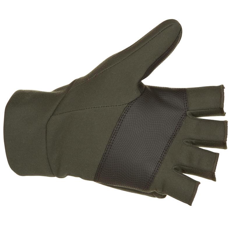 500 softshell hunting mittens green