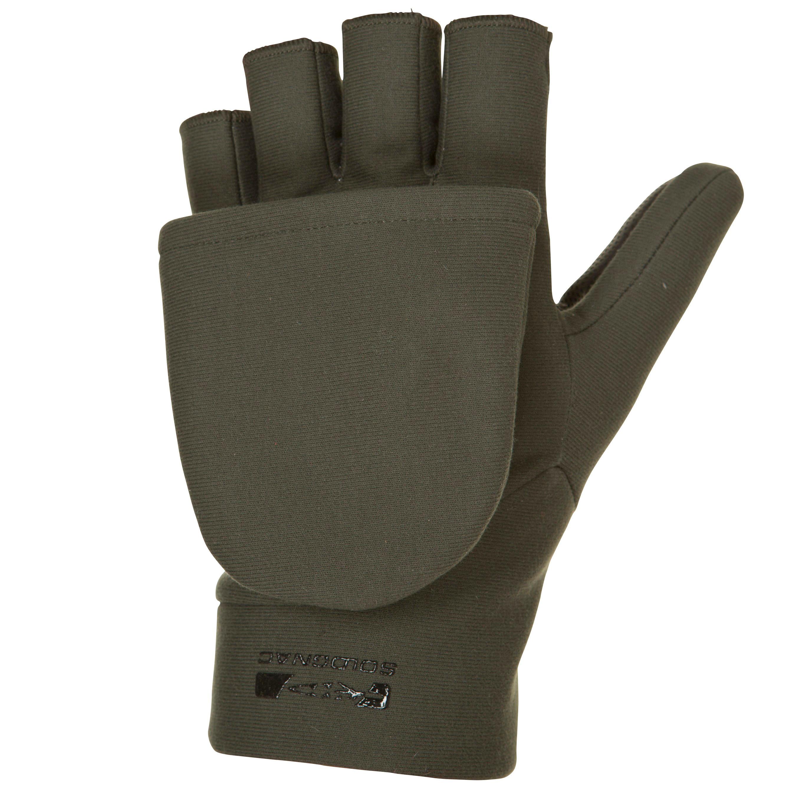 solognac handschoenen zonder vingers voor de jacht 500 softshell