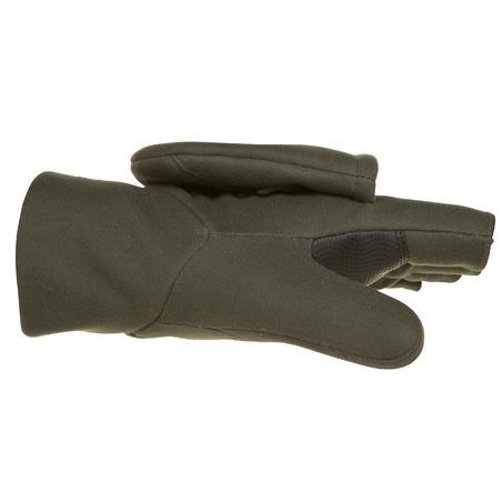 Рукавиці 500 для полювання зі софтшелу - Зелені