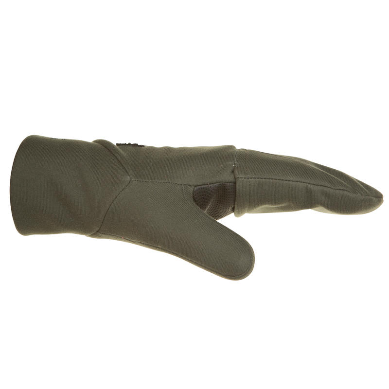 500 Softshell Hunting Mittens - Green