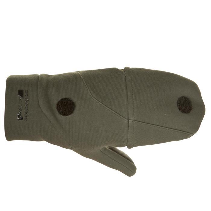 Jachthandschoenen zonder vingers 500 softshell groen
