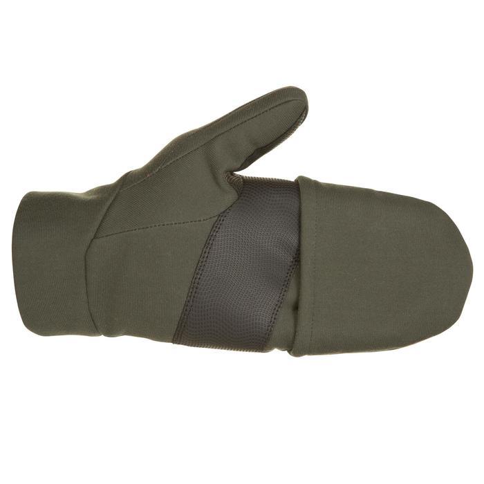 Mitaine chasse 500 softshell vert - 282645