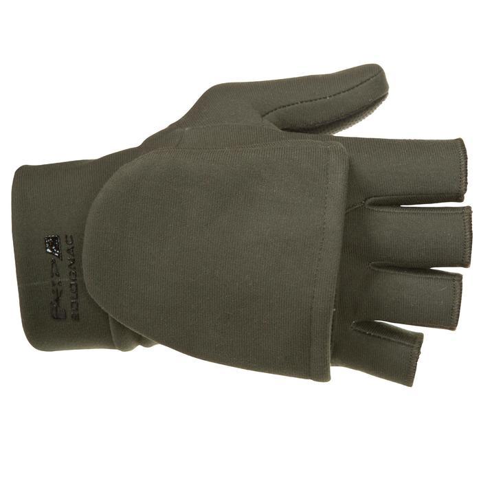 Handschoenen zonder vingers voor de jacht 500 softshell groen