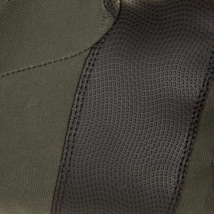 Softshell handschoenen zonder vingers 500 voor de jacht groen