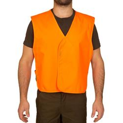 Peto Caza Solognac 100 Naranja Fluo Ajustable