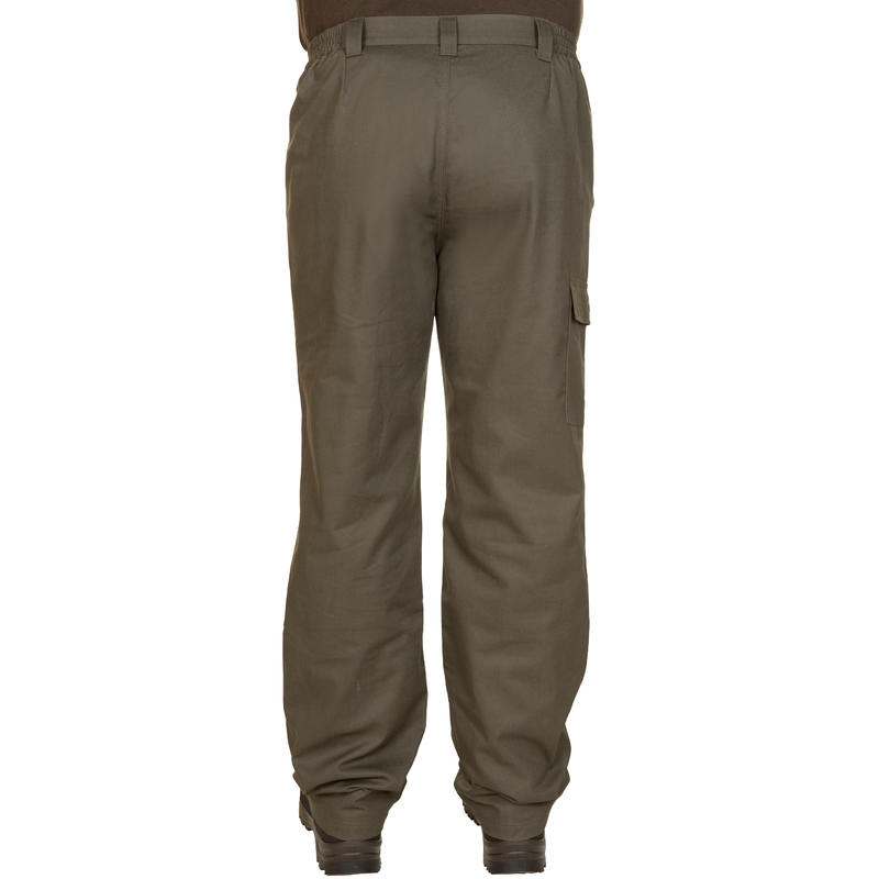 100 Warm Hunting Trousers - Green